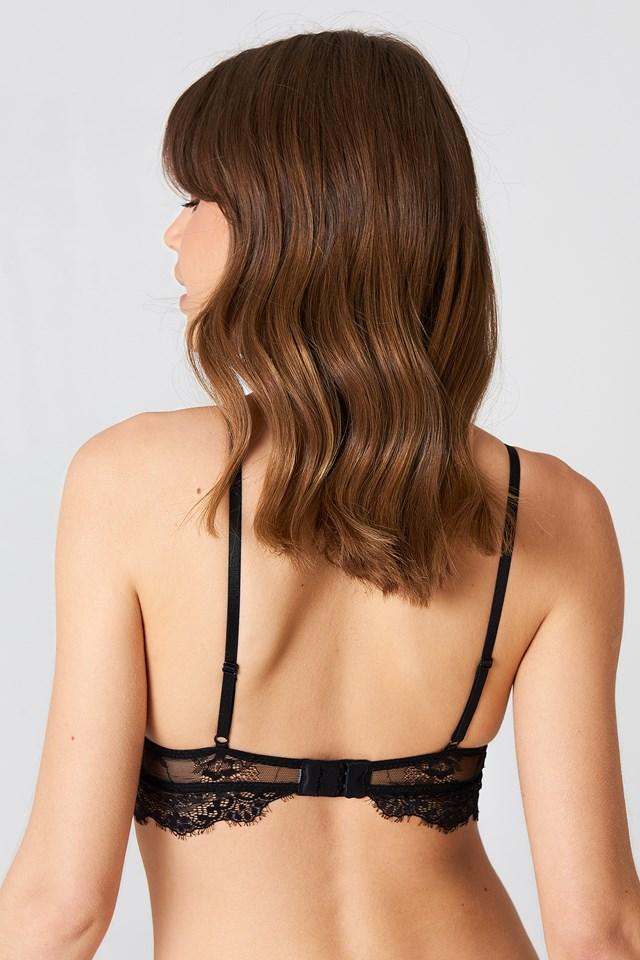 Delicate Lace Bralette Black