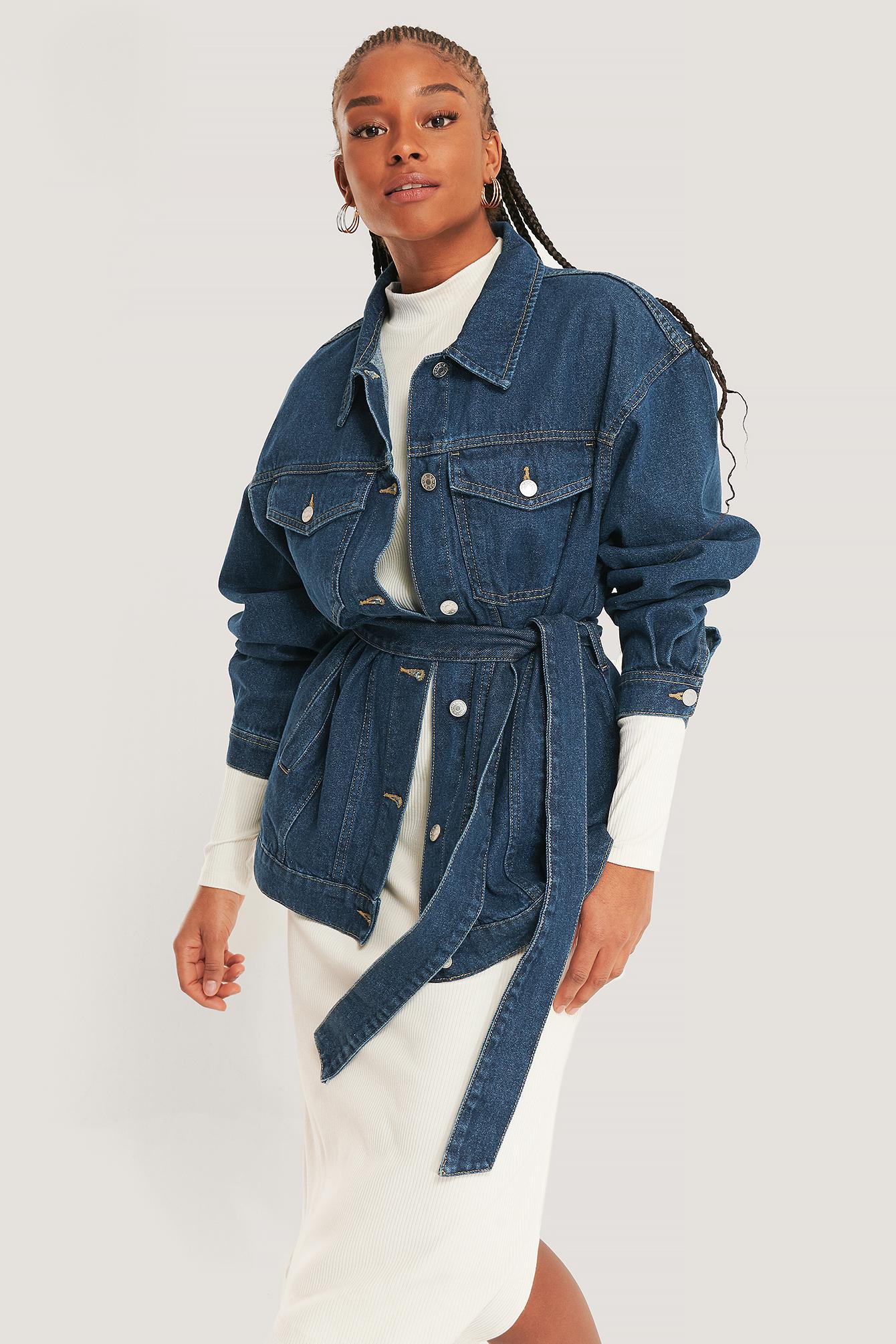 na-kd trend -  Jeansjacke - Blue