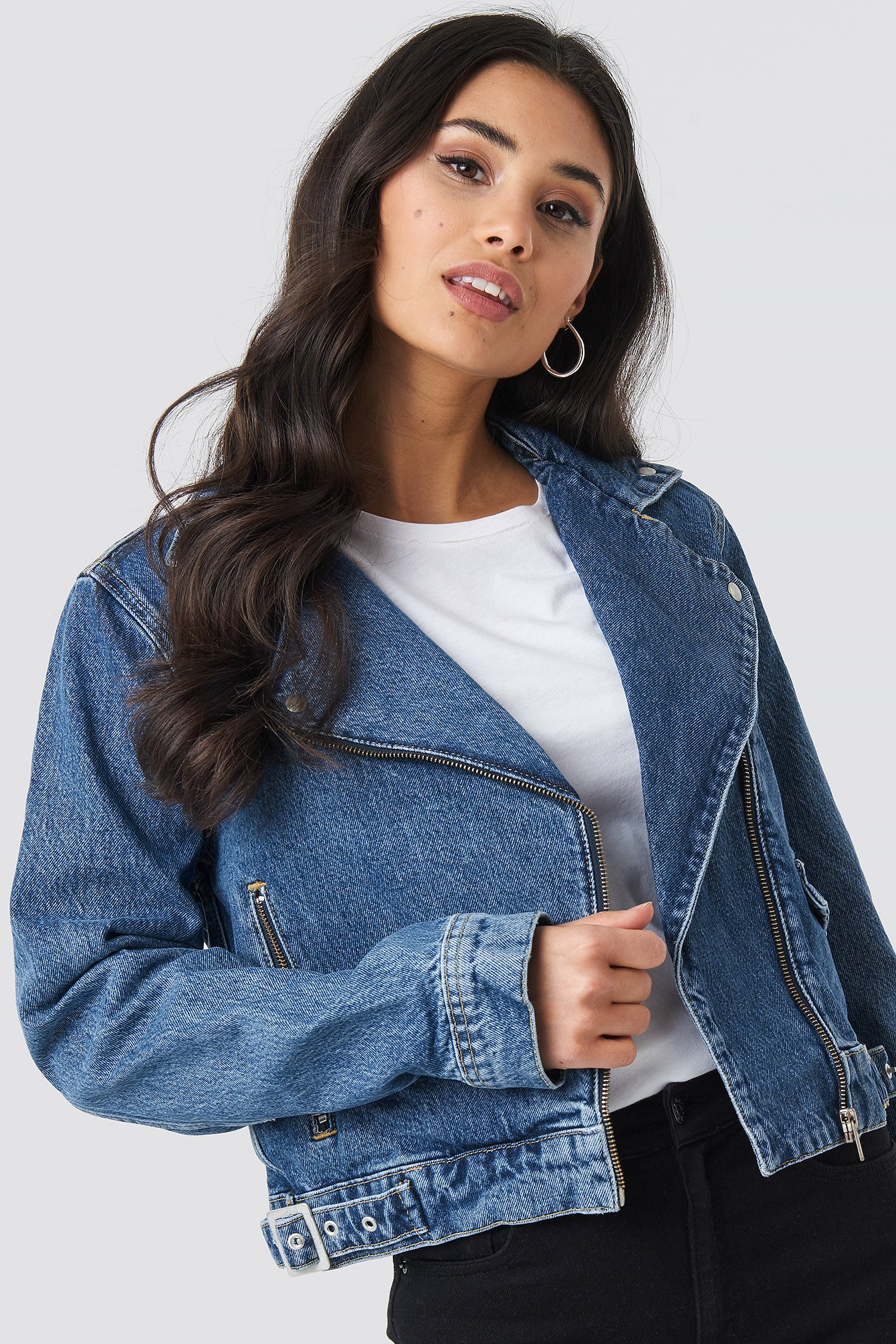 Denim Biker Jacket NA-KD.COM