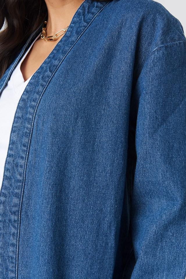 Denim Coat Mid Blue
