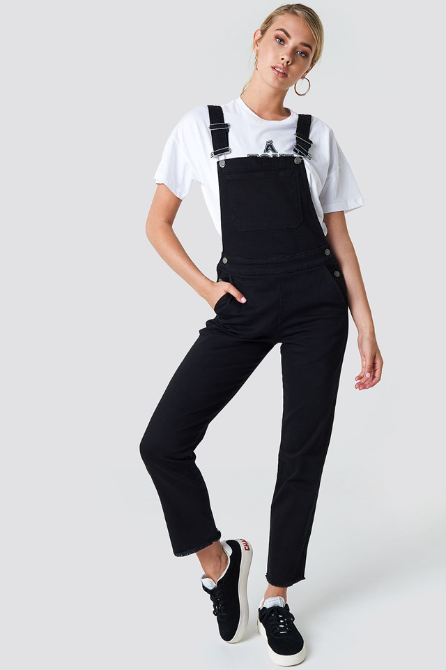 Denim Dungaree Black