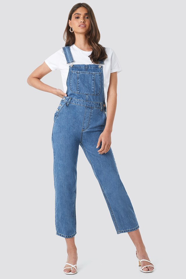Denim Dungaree Mid Blue
