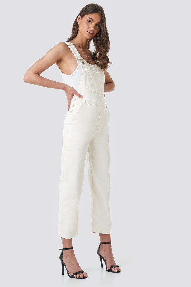 Denim Dungaree Offwhite