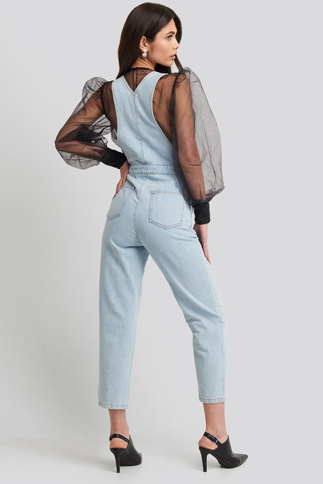 Denim Dungarees Light Blue Wash
