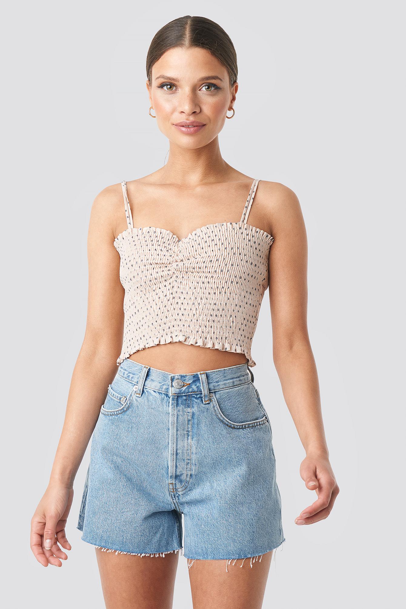 na-kd trend -  Denim High Waist Shorts - Blue