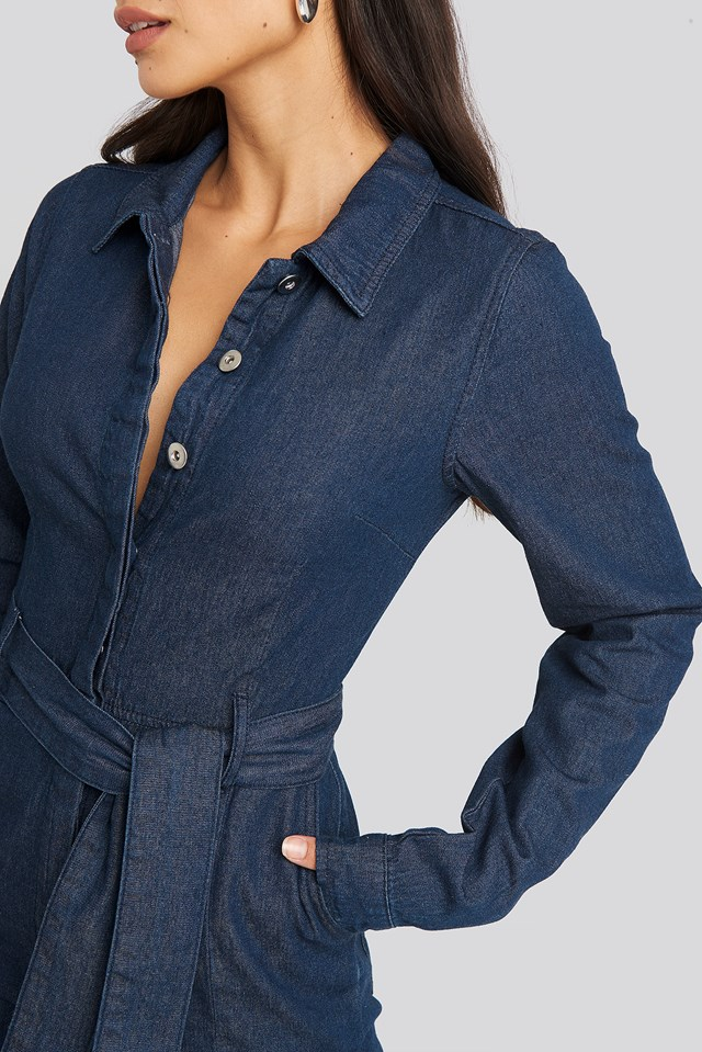 Denim Jumpsuit Blue Wash