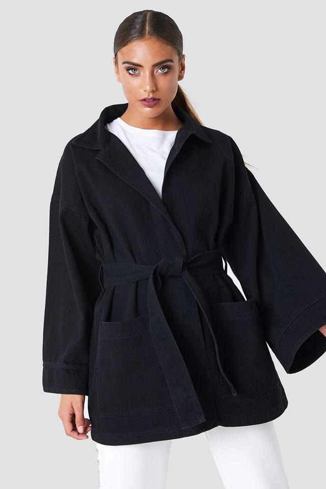 Denim Kimono Black Wash