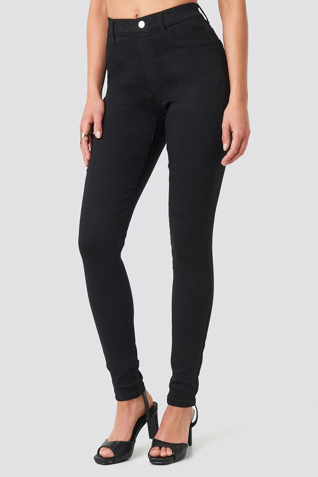 Denim Leggings Black