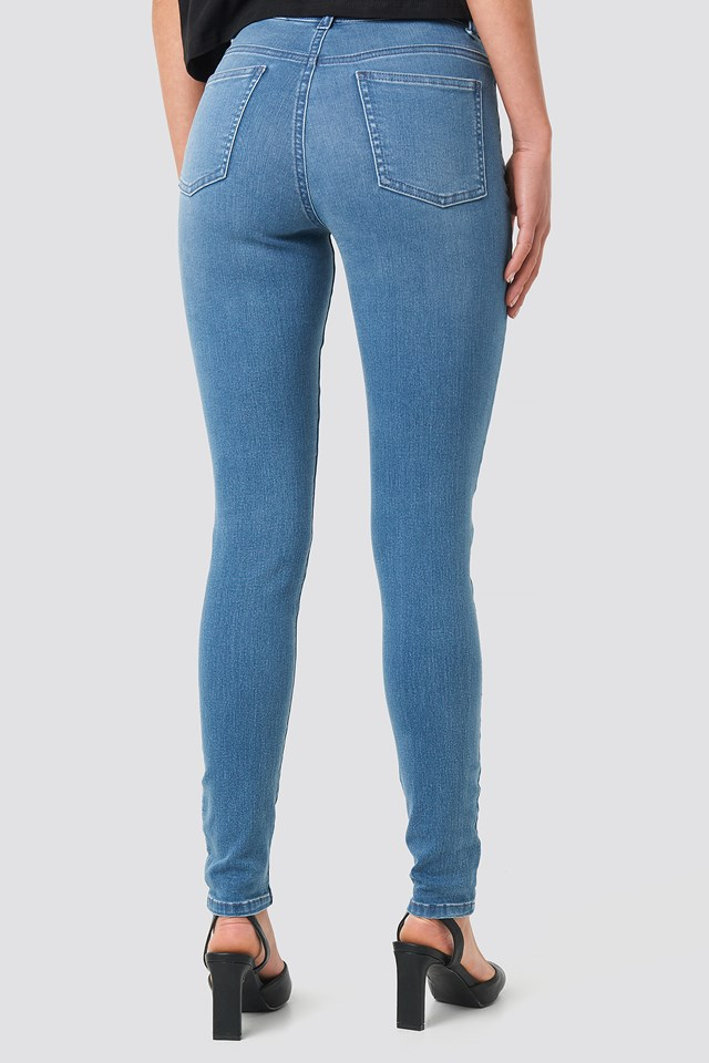 Denim Leggings Mid Blue