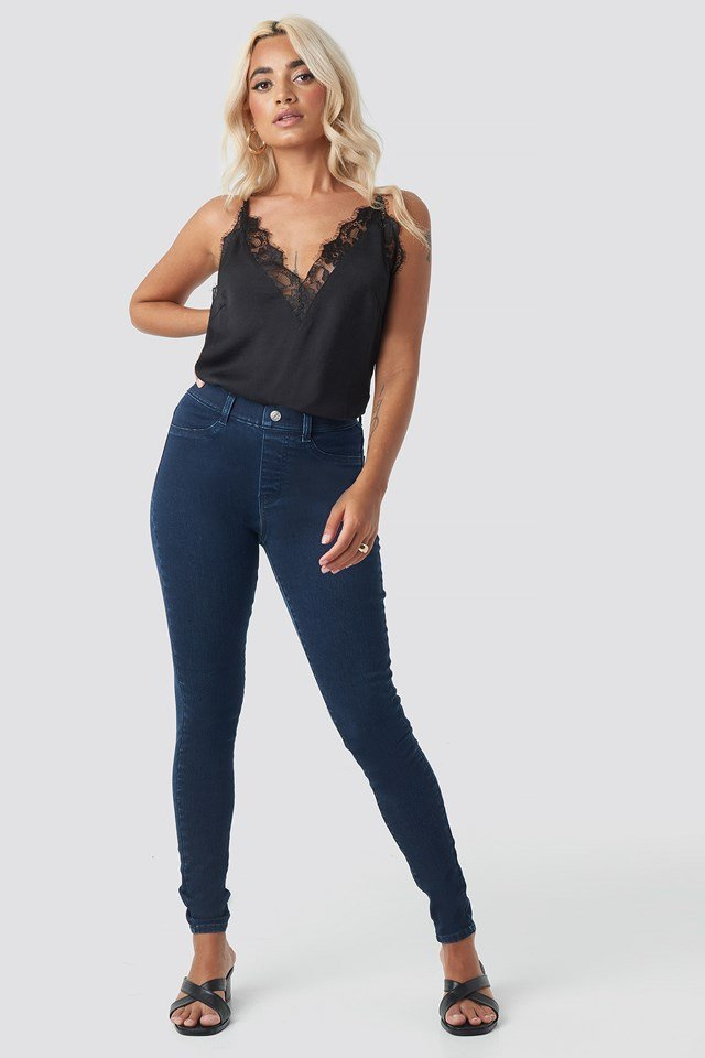Denim Leggings Dark Blue