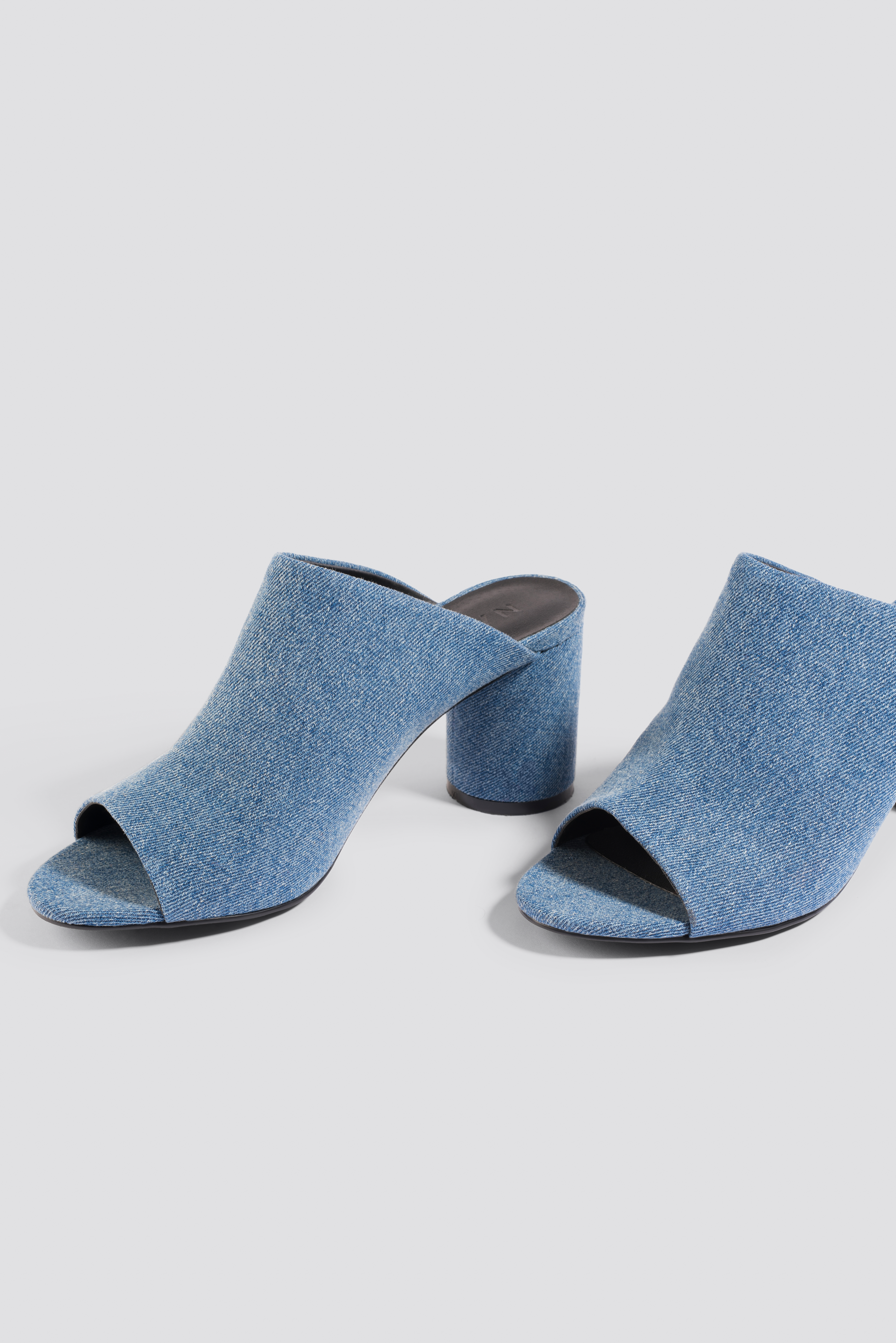NA-KD Denim Mules - Blue 3XGTp