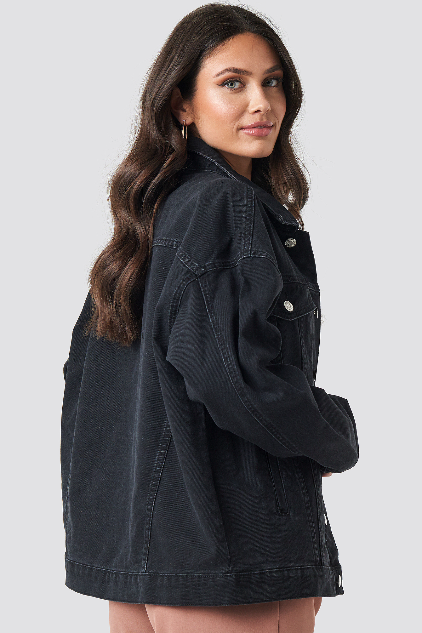 Denim Oversized Jacket NA-KD.COM