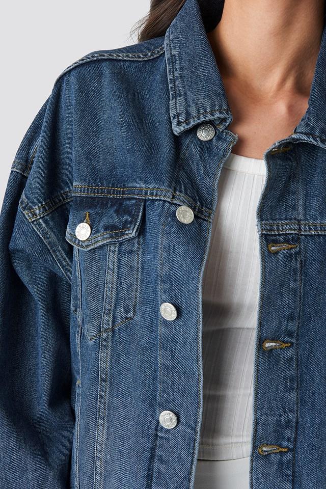Denim Oversized Jacket Dark Blue