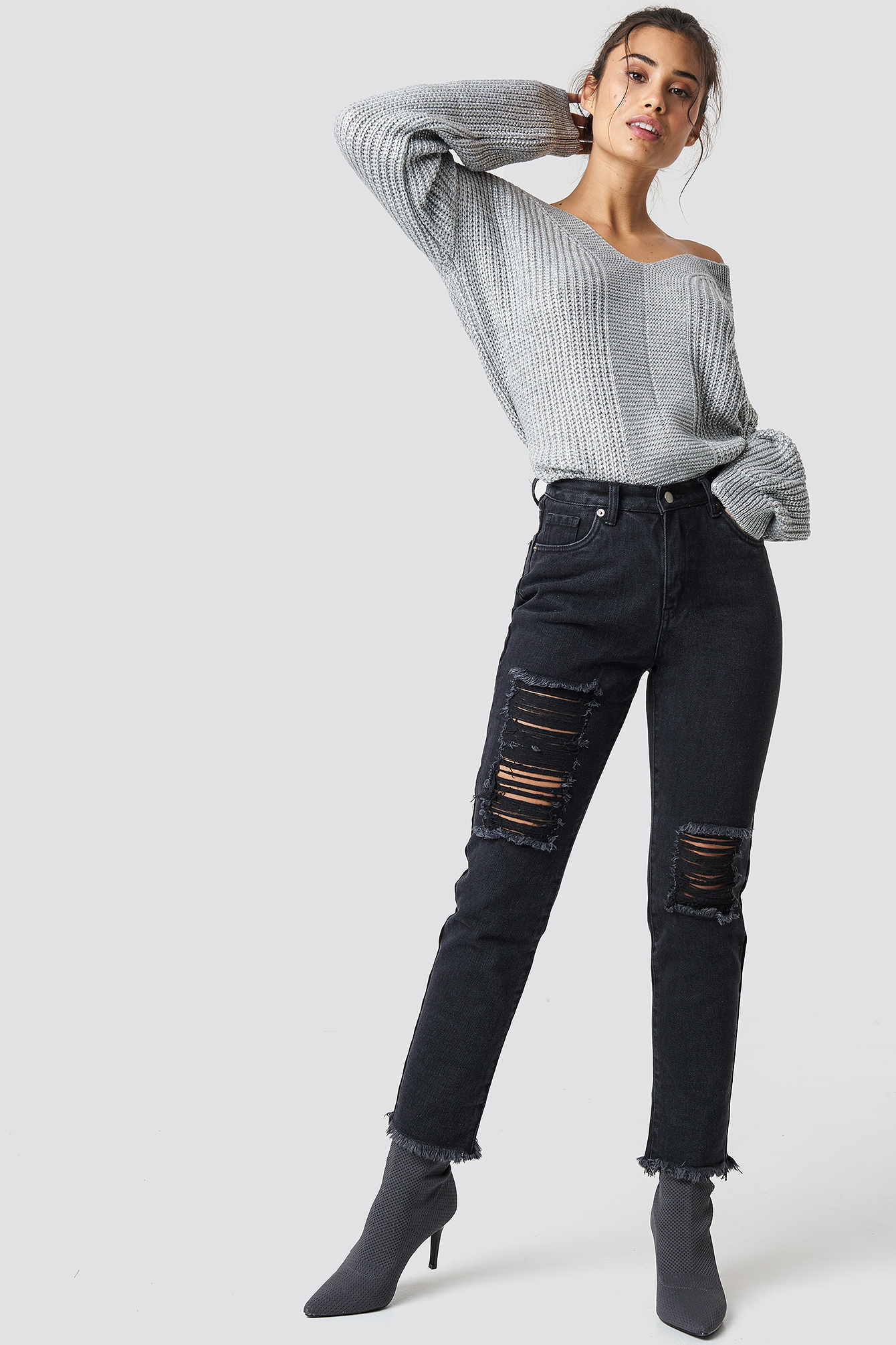 Destroyed Leg Denim NA-KD.COM