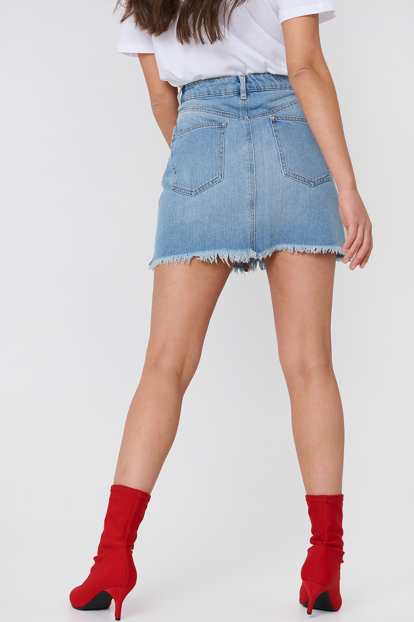 Destroyed Denim Skirt NA-KD.COM