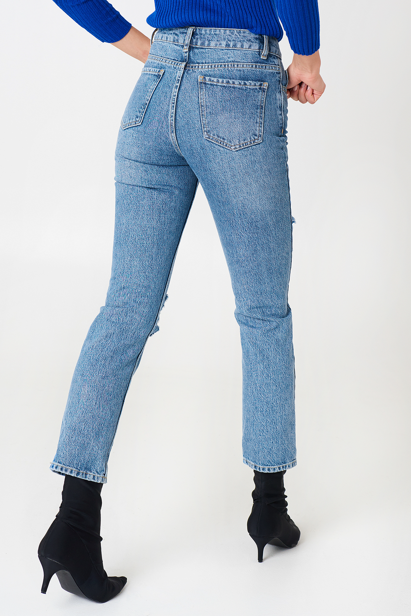 Destroyed Knee Denim NA-KD.COM