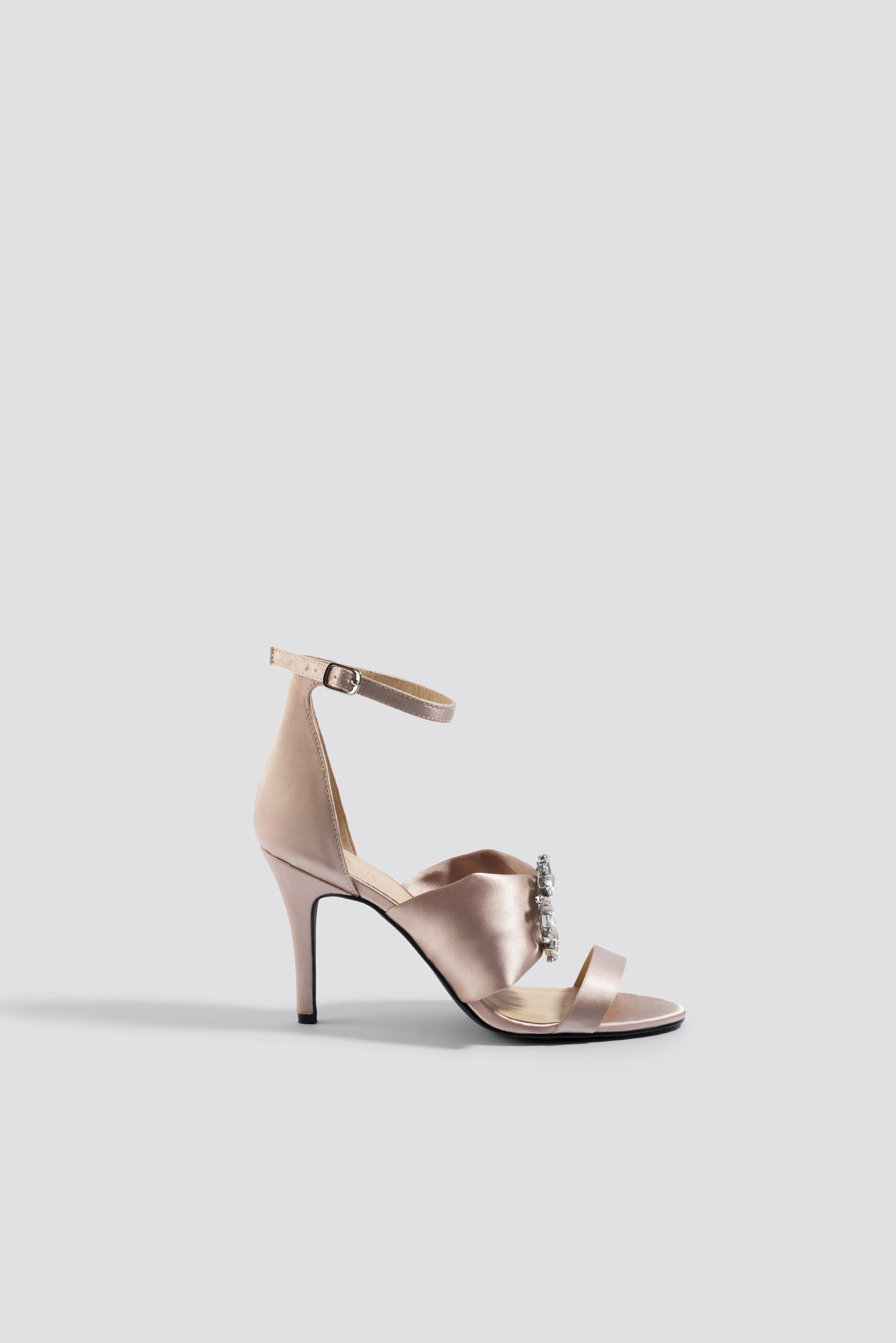 Jewel Detail High Heel Sandals NA-KD.COM