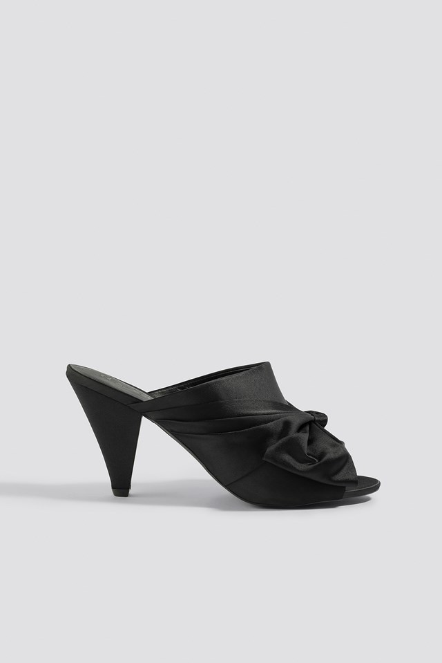 Bow Detail Mule Heels NA-KD Shoes