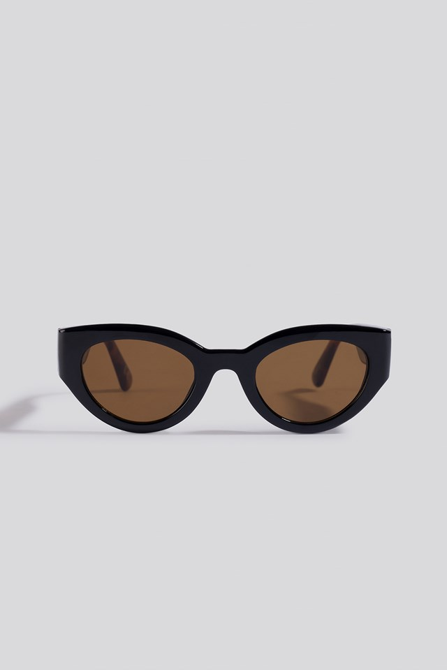 Detailed Temple Cateye Sunglasses Tortoise