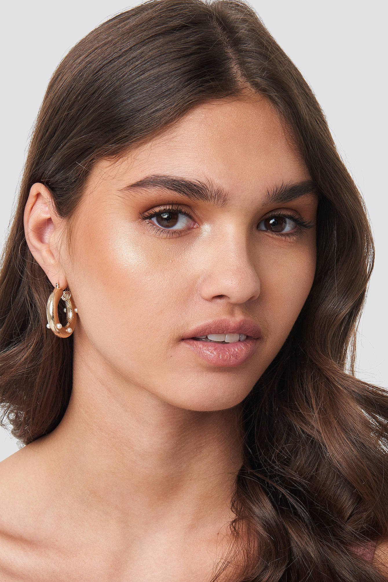 Detailed Thick Hoop Earrings NA-KD.COM