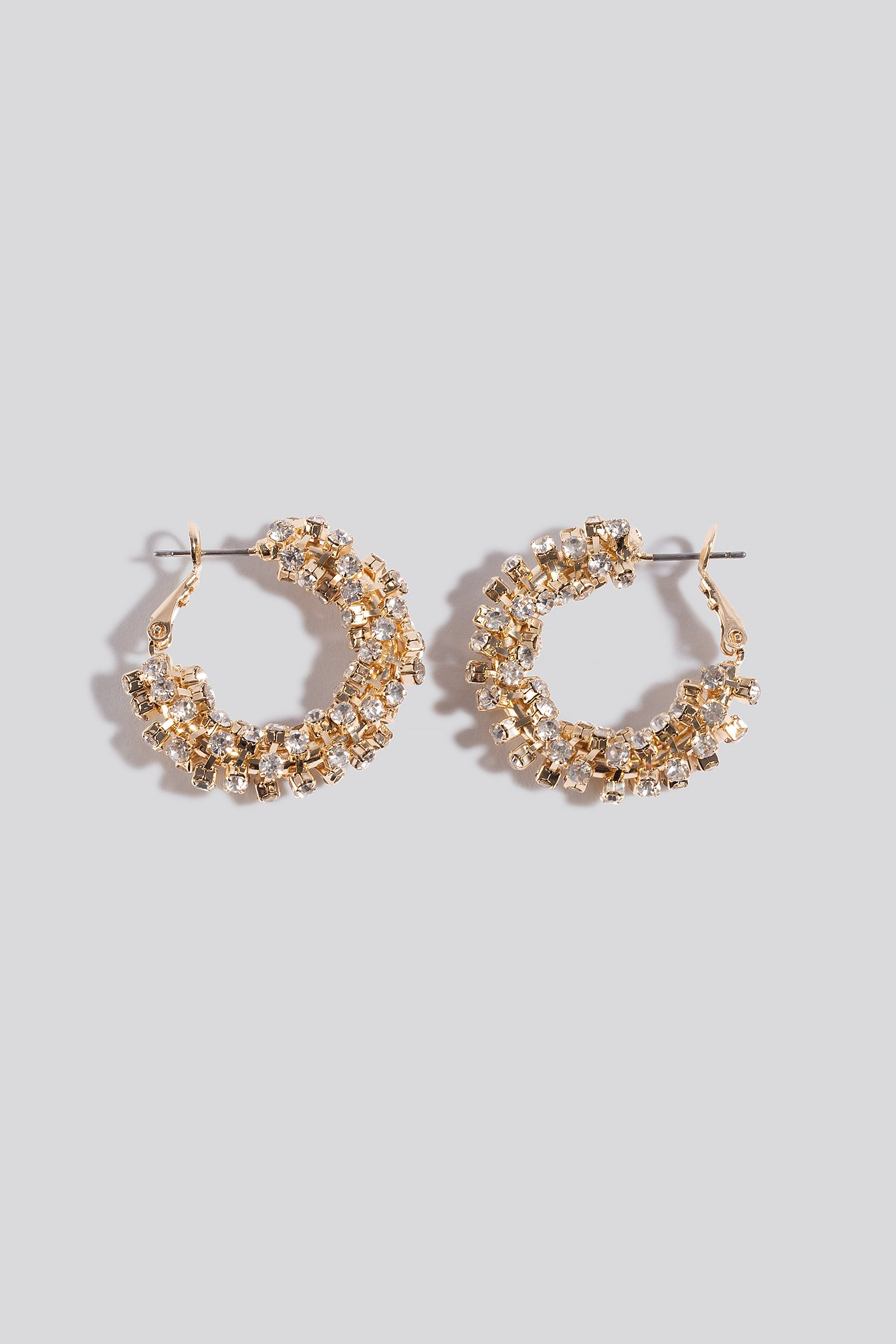 NA-KD Accessories Diamant Detailed Hoop Earrings - Gold | Schmuck > Ringe > Diamantringe | NA-KD Accessories