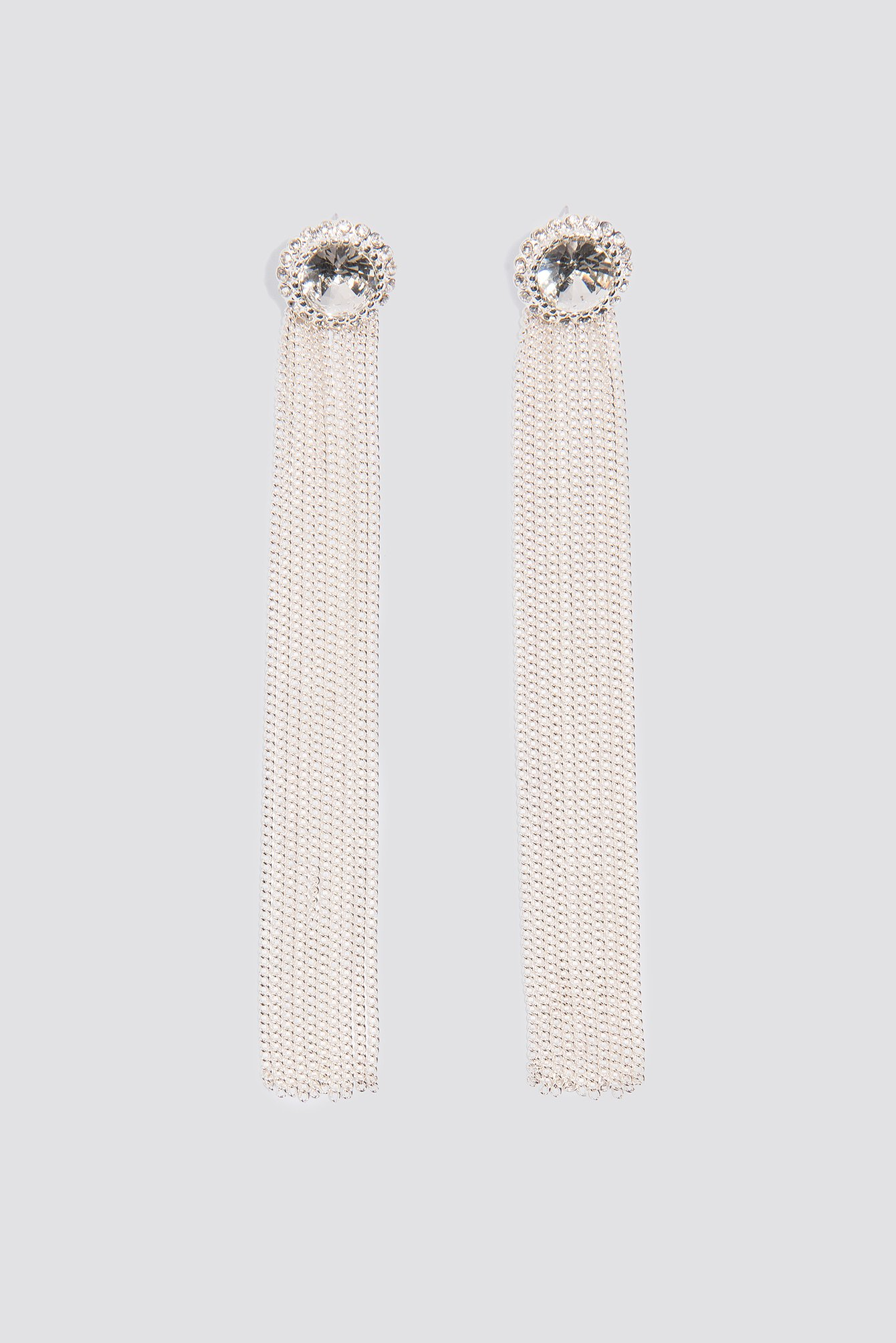 Diamond Chain Tassle Earrings NA-KD.COM