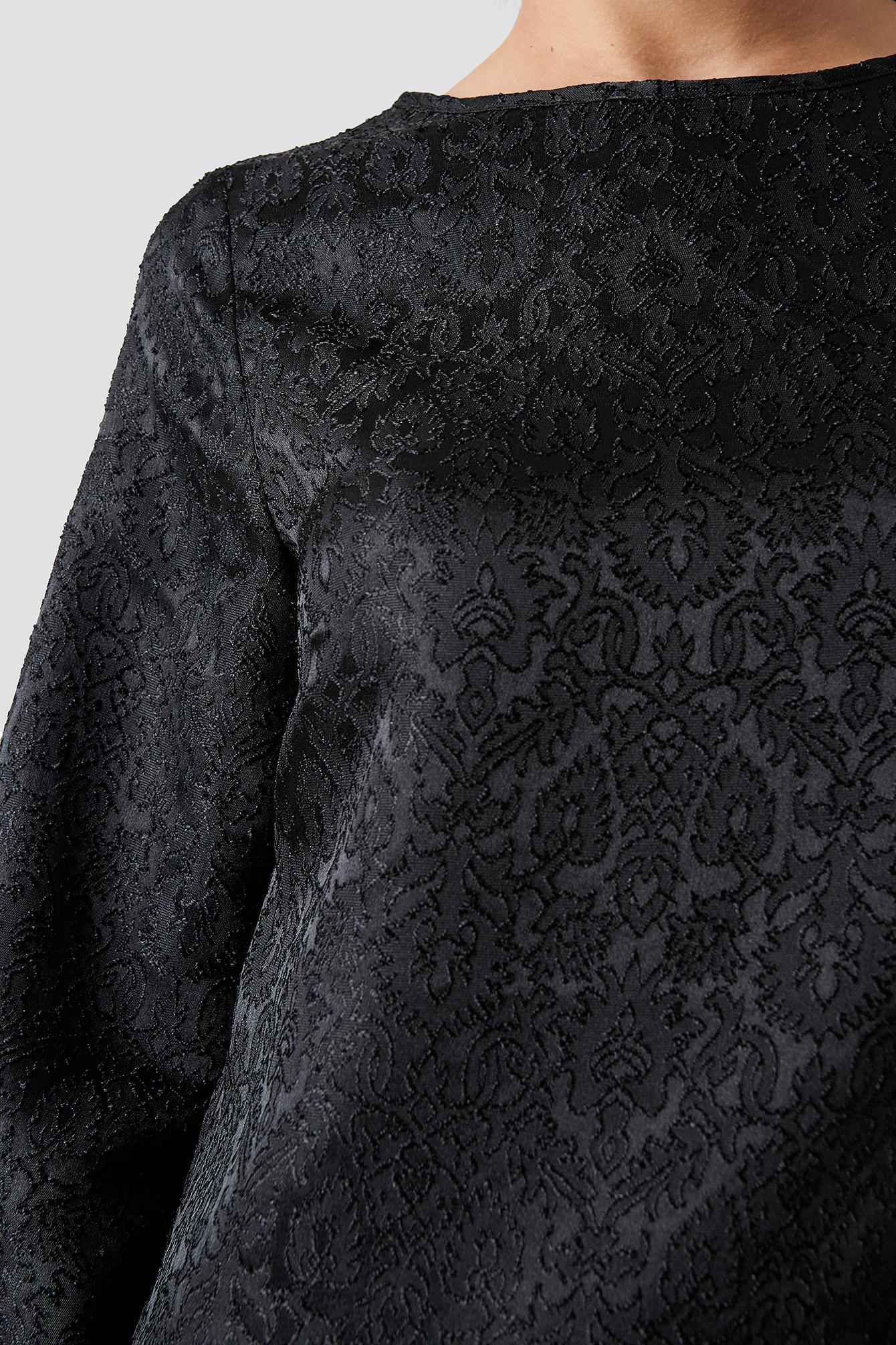 Dip Hem Jacquard Dress NA-KD.COM
