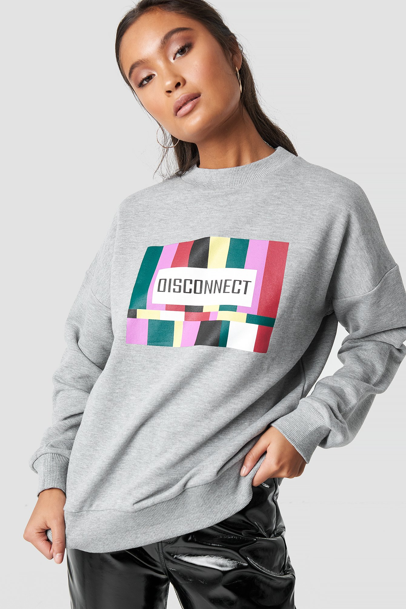na-kd -  Disconnect Sweatshirt - Grey