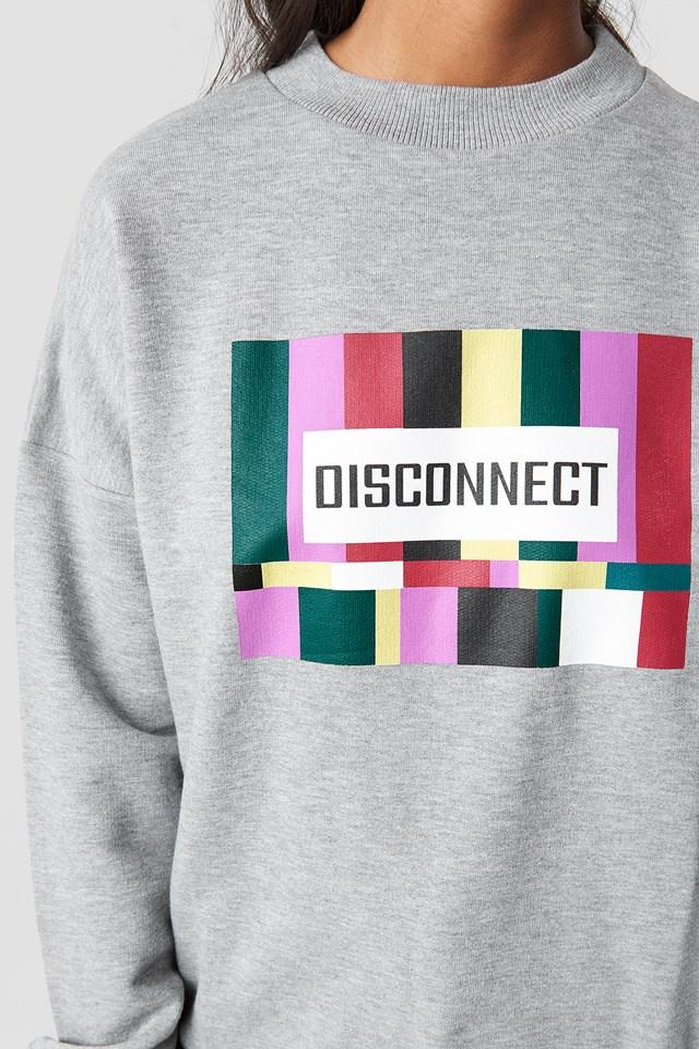 Disconnect Sweatshirt Grey Melange