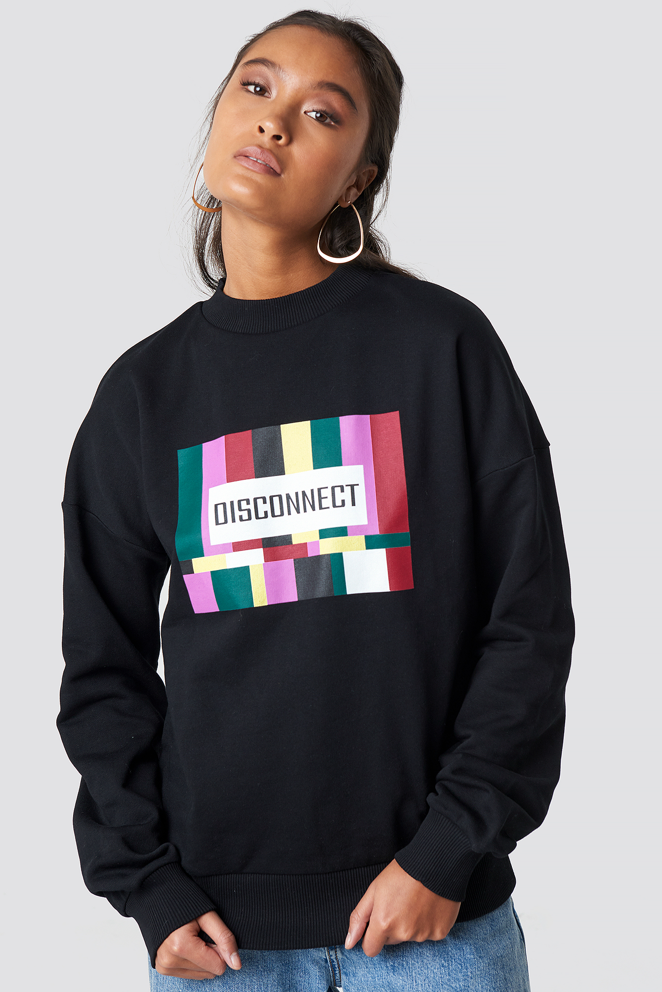 na-kd -  Disconnect Sweatshirt - Black