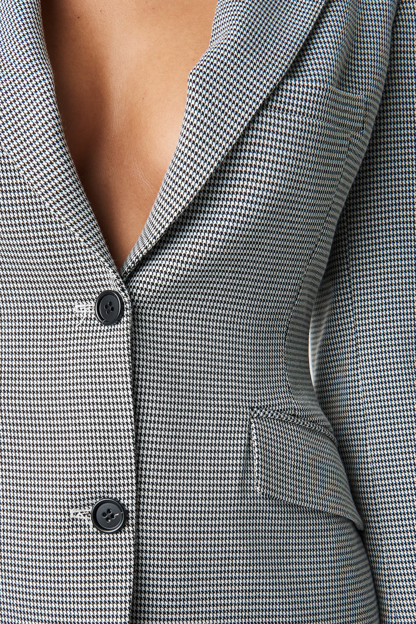Dogtooth Fitted Blazer NA-KD.COM