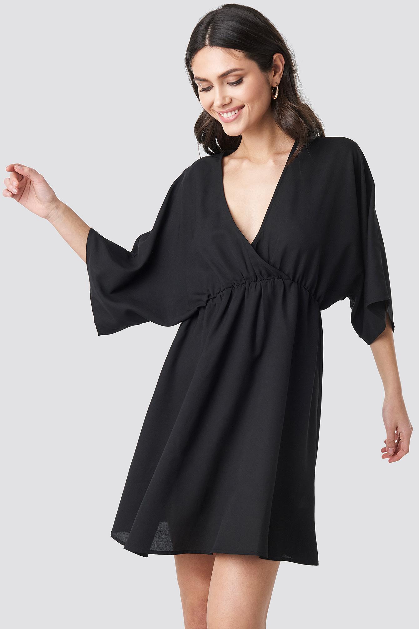 Dolman Sleeve Wrap Front Dress NA-KD.COM