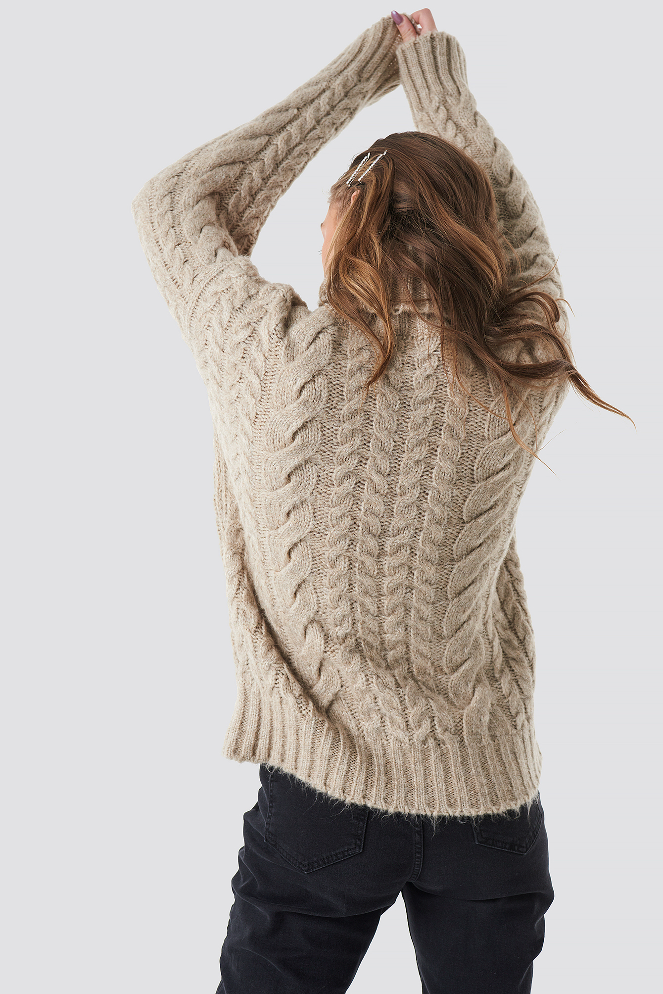 Cable Knitted Sweater NA-KD.COM