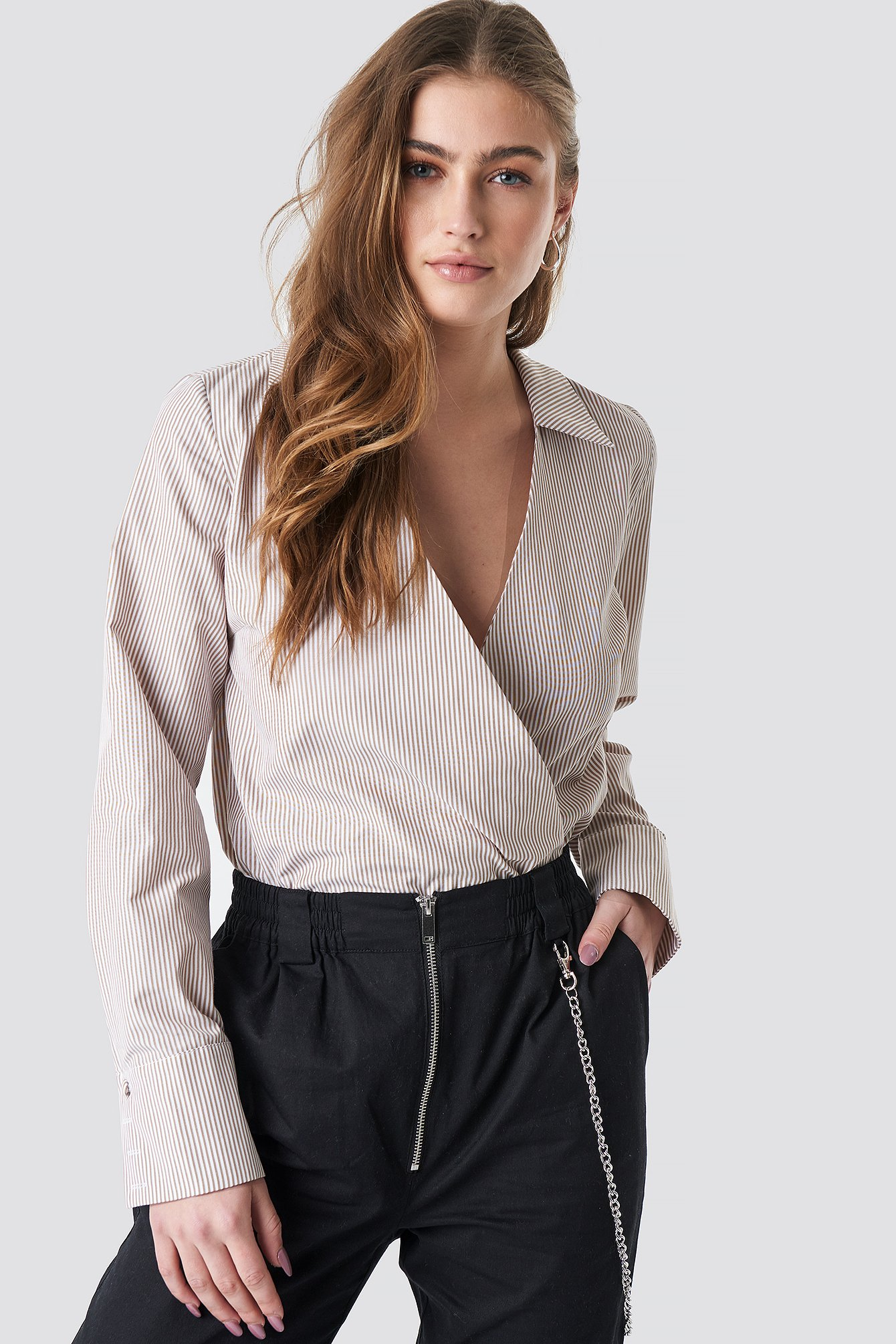 Mesh Cropped LS Top Nude | na-kd.com