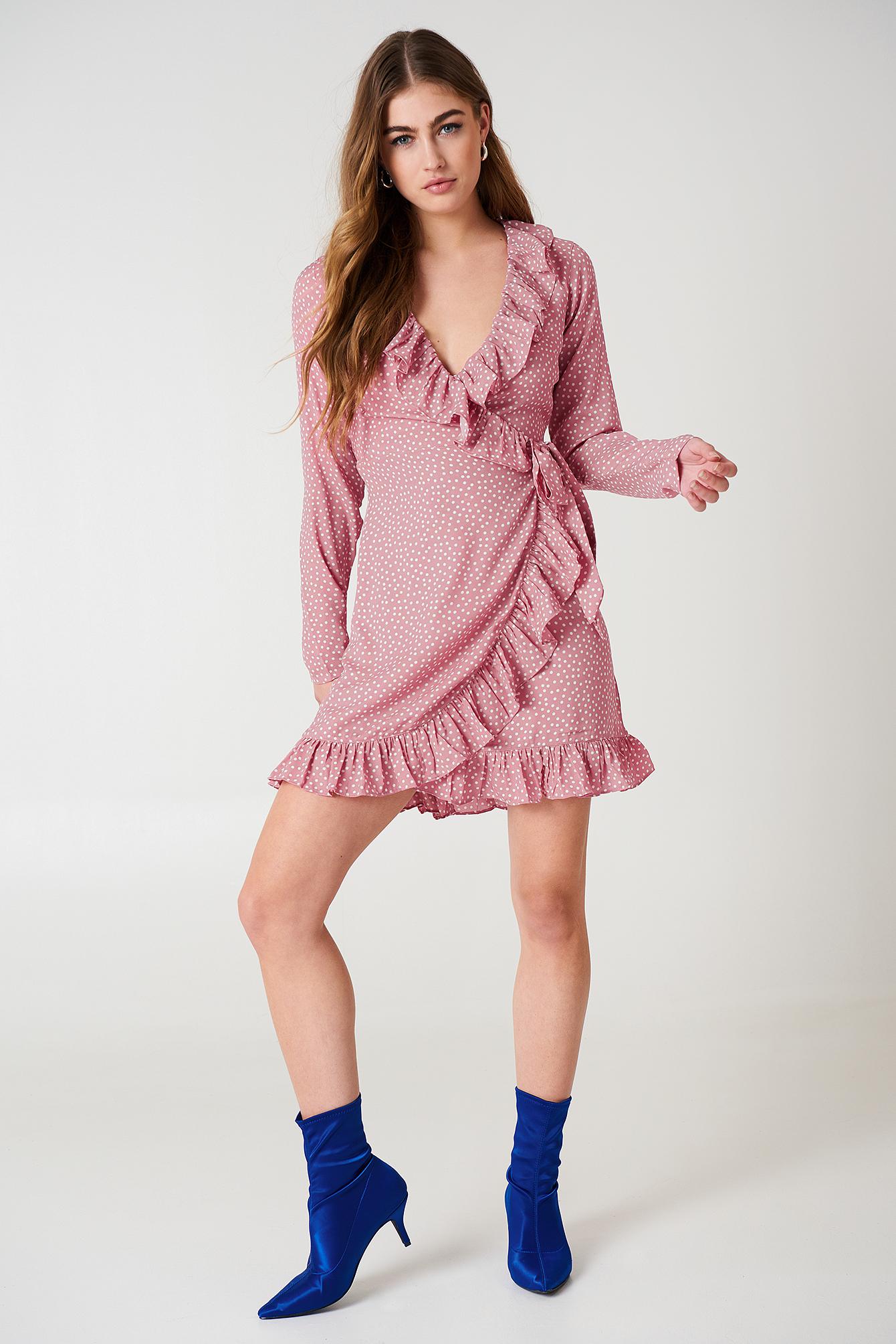 Dotted Frill Dress NA-KD.COM