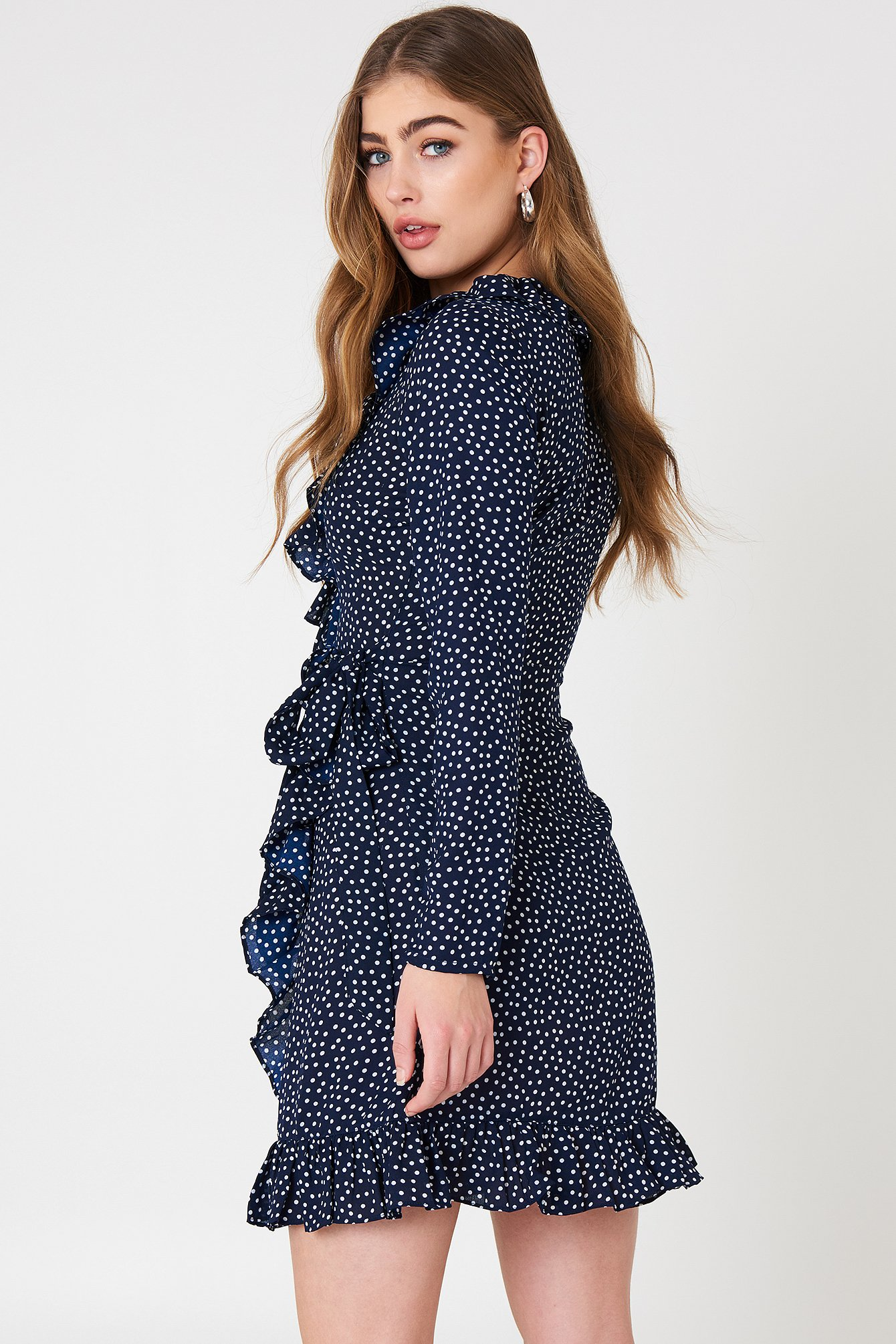 Dotted Frill Dress NA-KD.COM