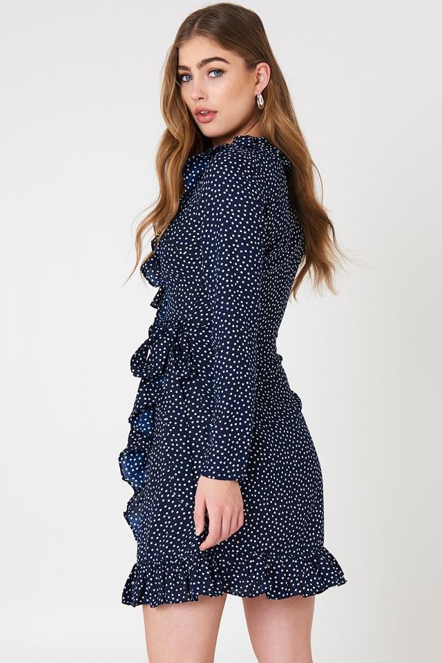 Dotted Frill Dress Dot Print