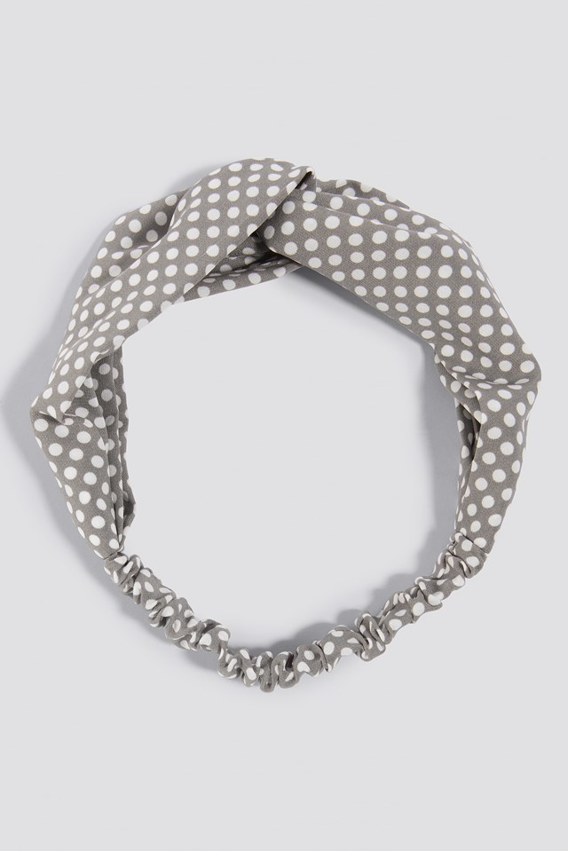 Dotted Hairband Dusty Grey