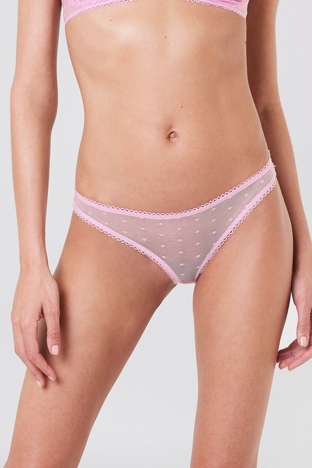 Dotted Mesh Pantie Light Pink