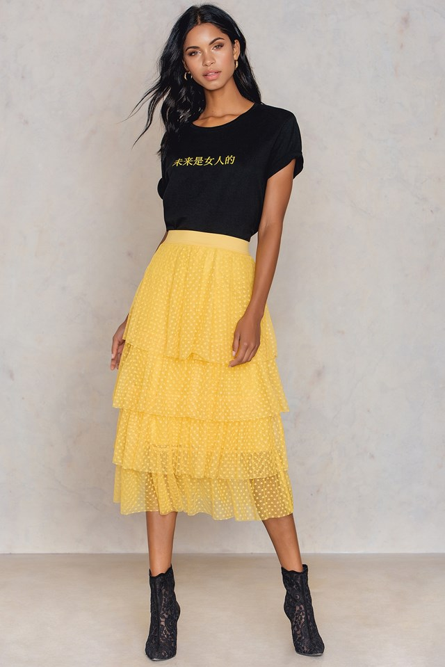 Dotted Mesh Skirt NA-KD.COM
