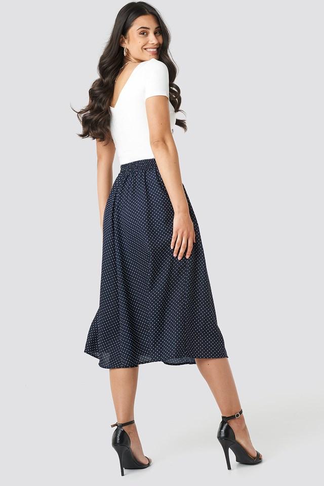 Dotted Midi Skirt NA-KD.COM