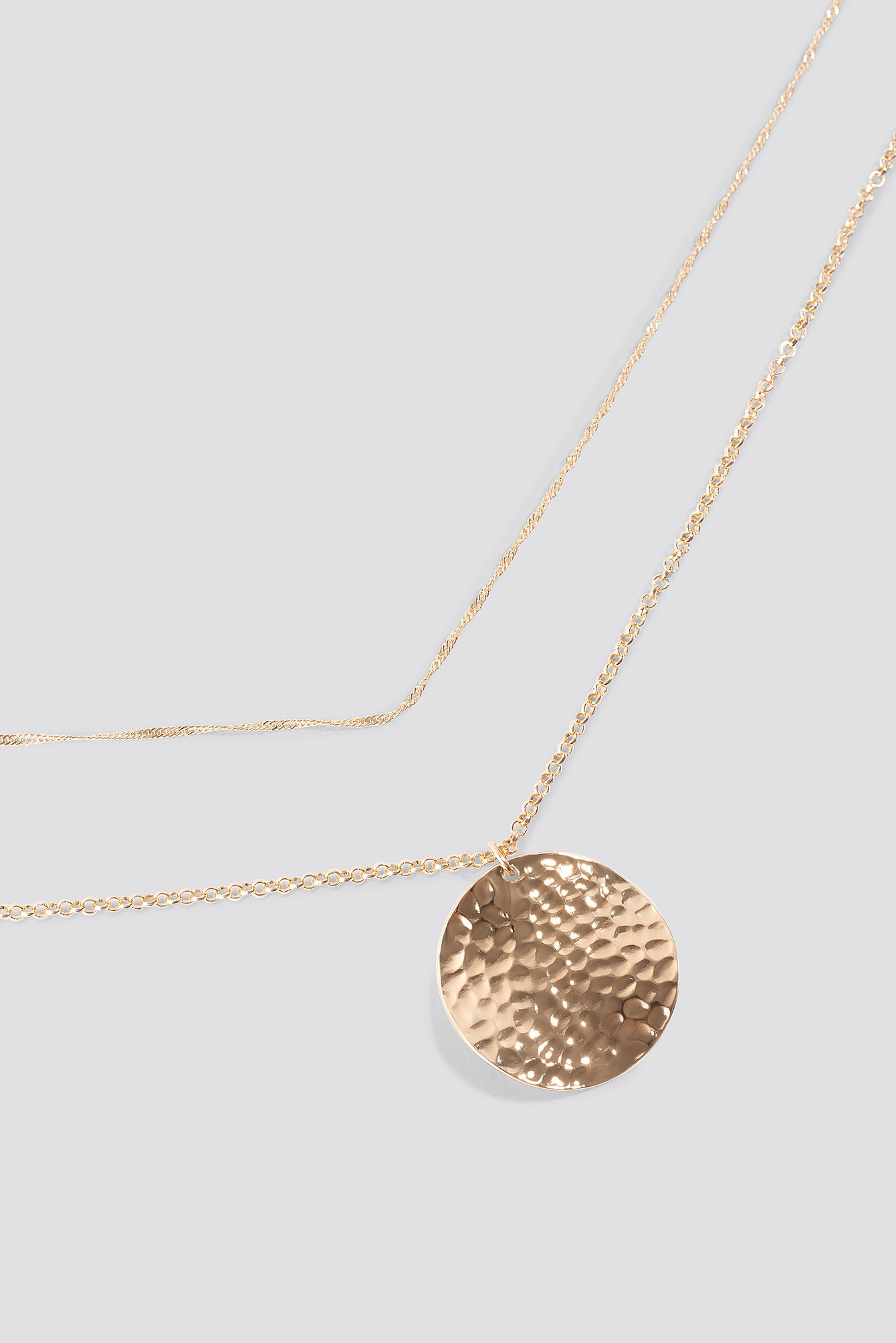 Dotted Plate Double Necklace NA-KD.COM