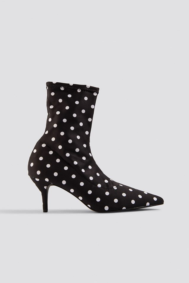 Dotted Sock Boots NA-KD Shoes