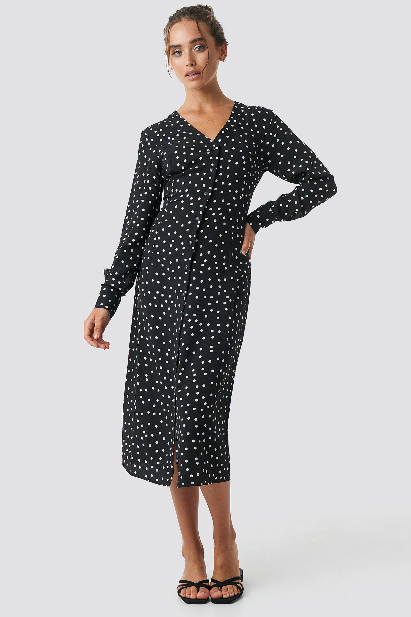 Dotted Straight Dress NA-KD.COM