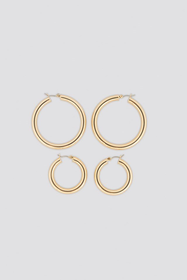 Double Back Basic Hoops NA-KD Accessories