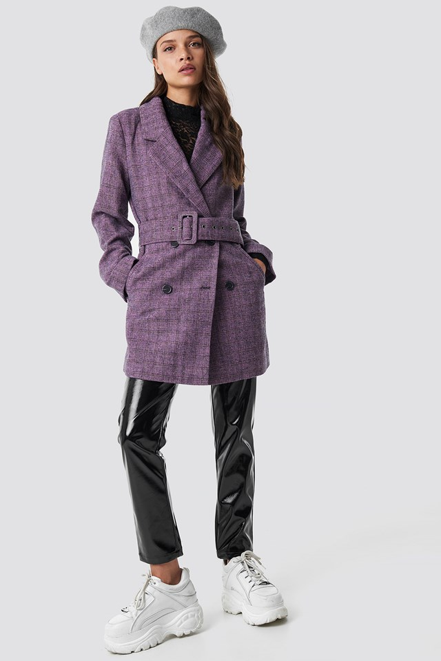Double Breasted Belted Jacket NA-KD.COM