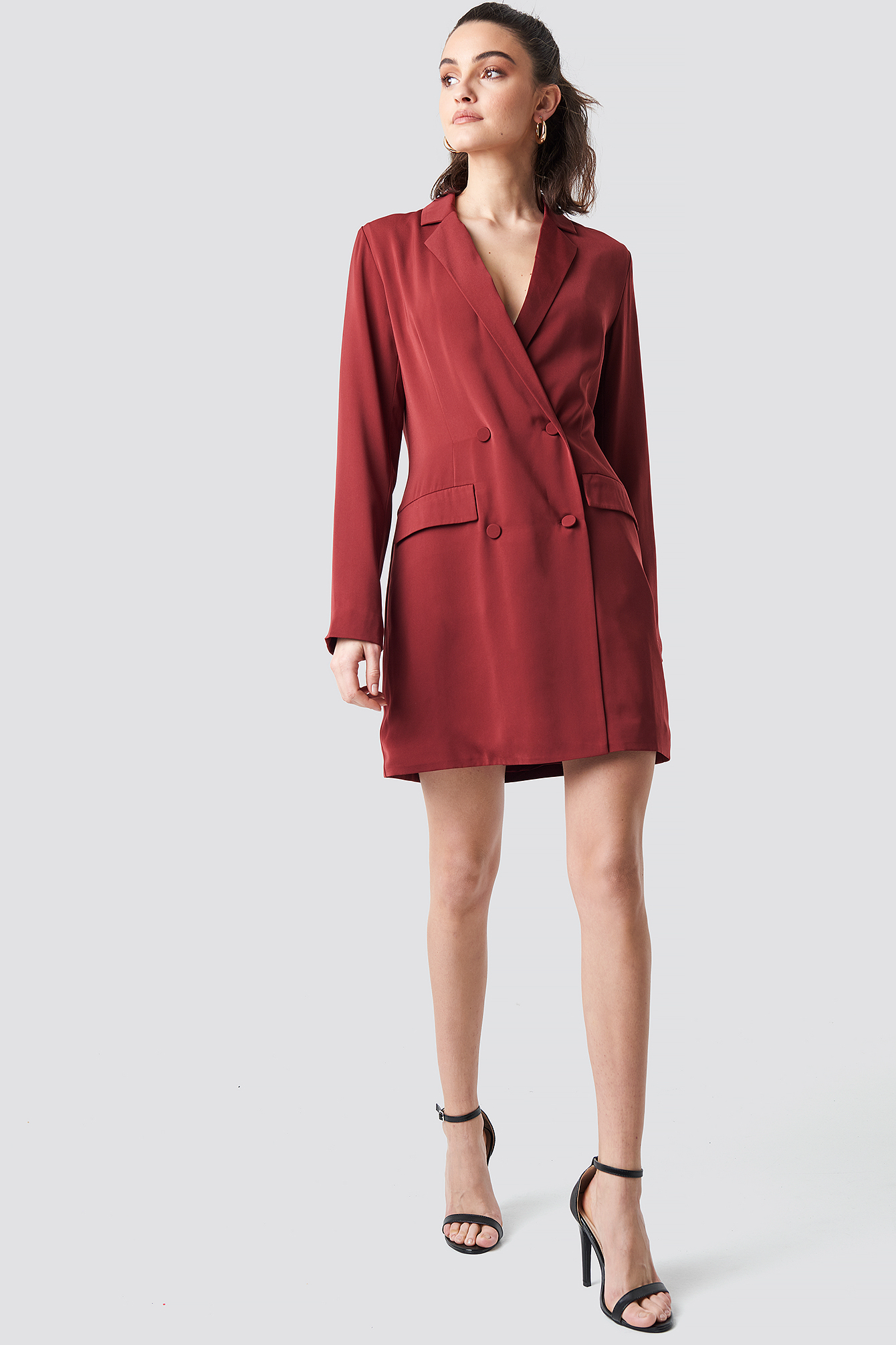 na-kd party -  Double Breasted Blazer Dress - Red