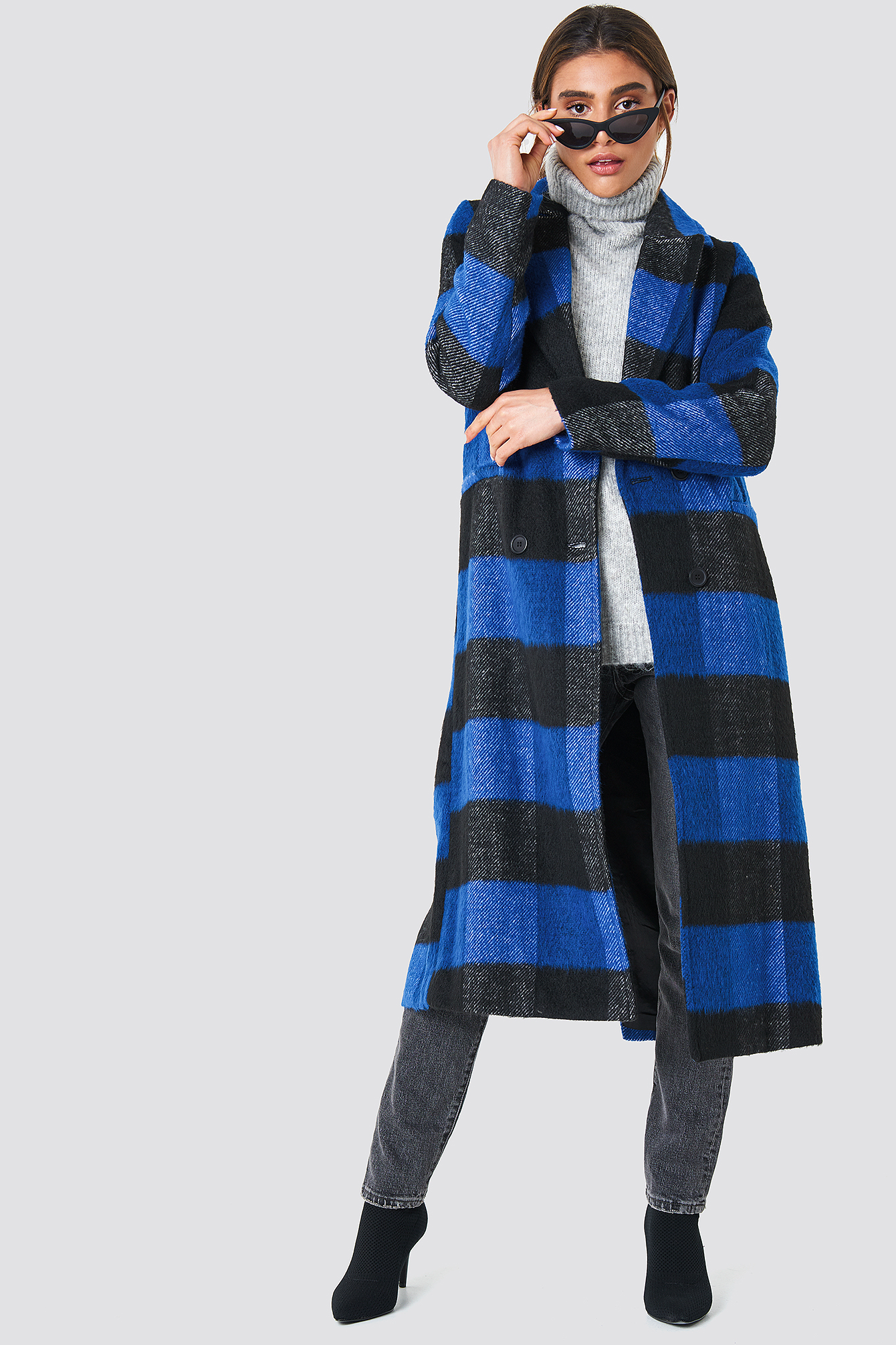 Double Breasted Checked Coat NA-KD.COM