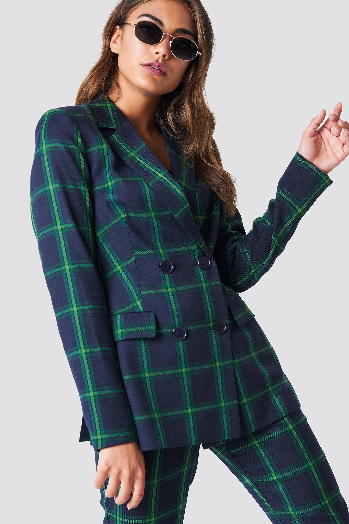 Double Breasted Checkered Blazer NA-KD.COM
