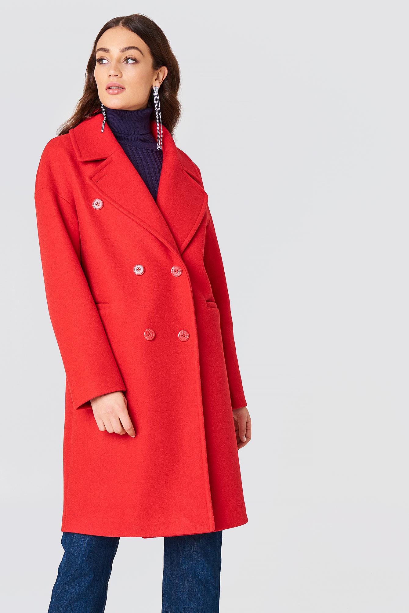 Dwurzędowy płaszcz NA-KD.COM